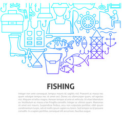 Fishing line concept vector