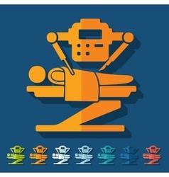 Flat design robot surgeon vector
