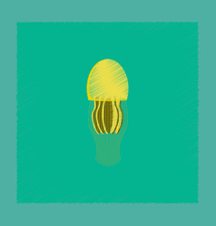 Flat shading style biology jellyfish vector