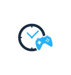 game time logo icon design vector image