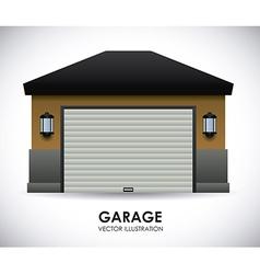 Garage design vector