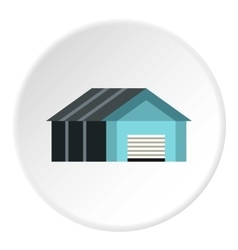 Garage with automatic gate icon flat style vector