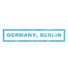 Germany Berlin Rubber Stamp vector