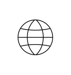Globe station line icon world and earth vector