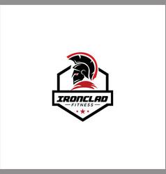 Gym fitness spartan logo design bodybuilding vector