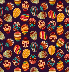 Happy Easter Happy holiday eggs pattern vector