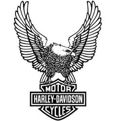 Harley-davidson eagle 2 vector