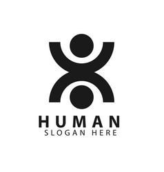 Human logo template design vector