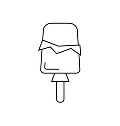ice cream popsicle line icon sign vector image