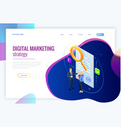 Isometric digital marketing strategy concept vector