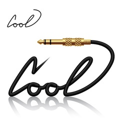 jack connector cool calligraphy vector image