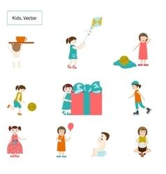 Kids Elements vector image vector image