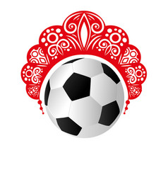 kokoshnik head womens on a football vector image