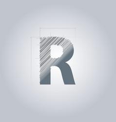 Letter r logo alphabet logotype architectural vector