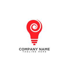 Light bulb symbol design vector