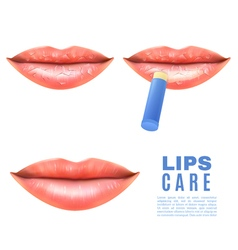 Lips Care And Protection Realistic Poster vector
