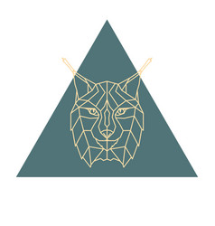 Lynx head logo vector