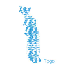 map togo vector image