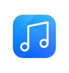 melody glossy flat icon tune symbol vector image