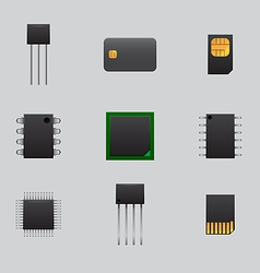 mobile and computer boards vector image