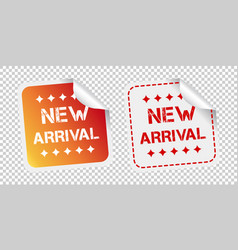 New arrival stickers on isolated background vector