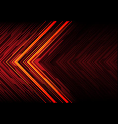orange light black line arrow on red polygon vector image