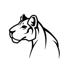 panther outline silhouette puma or lioness icon vector image