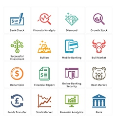 Personal Business Finance Icons Set 1 vector image