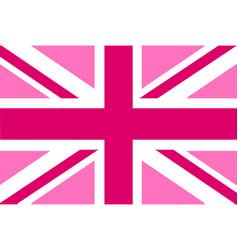 Pink jack flag vector