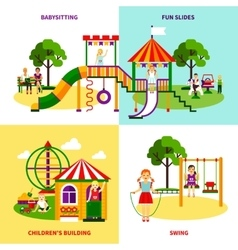 Playground design concept vector