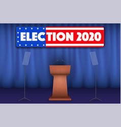 podium tribune with symbol usa election 2020 vector image