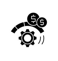 Process optimization black icon sign on vector