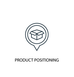 product positioning concept line icon simple vector image