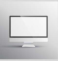 Realistic computer mockup template vector