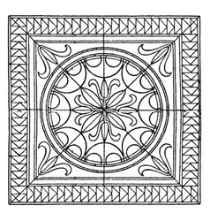 roman square panel is a mosaic pavement design vector image