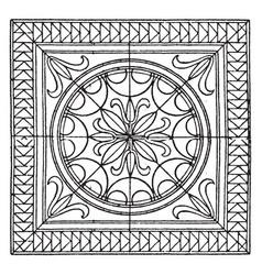 Roman square panel is a mosaic pavement design vector