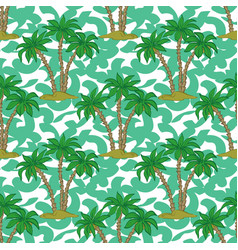 seamless pattern palms vector image