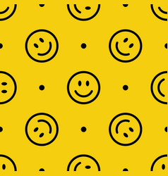 smile line icon pattern abstract vector image