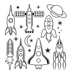 space symbols vector image