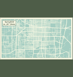 springfield usa city map in retro style outline vector image