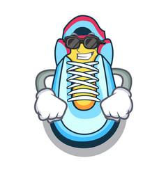 Super cool cartoon pair of casual sneakers vector