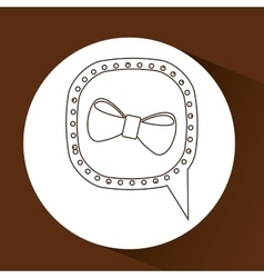 Symbol hipster orange bowtie trendy icon vector