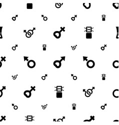 Symbols icons pattern seamless white background vector