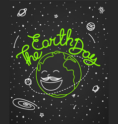 the earth day doodle style vector image
