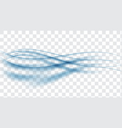 transparent blue waves abstract blue waves vector image
