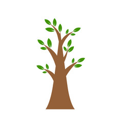 tree flat icon isolated on white background vector image
