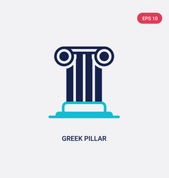Two color greek pillar icon from education vector