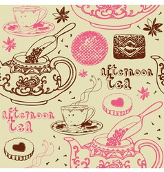 Vintage Afternoon Tea Background vector