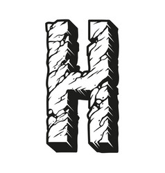 Vintage desert design letter h concept vector