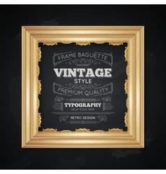 Vintage Frame Typography vector image